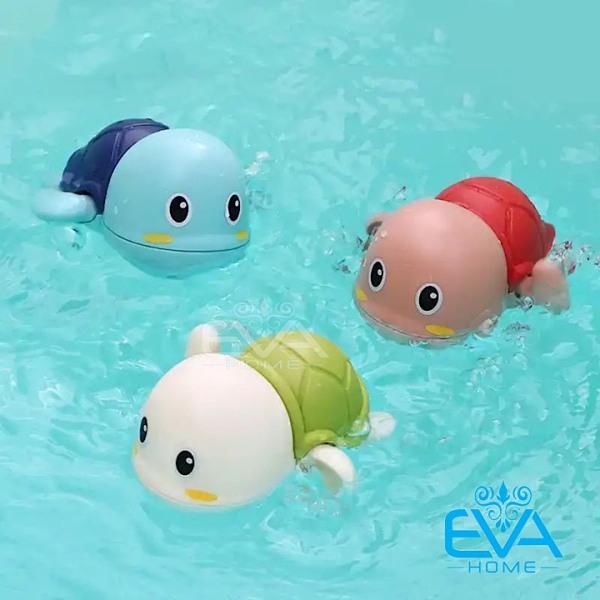 Combo 3 Chú Rùa Văn Cót Biết Bơi Trong Nước Siêu Dễ Thương Cho Bé Chơi Trong Nhà Tắm Hoặc Bể Bơi Mini