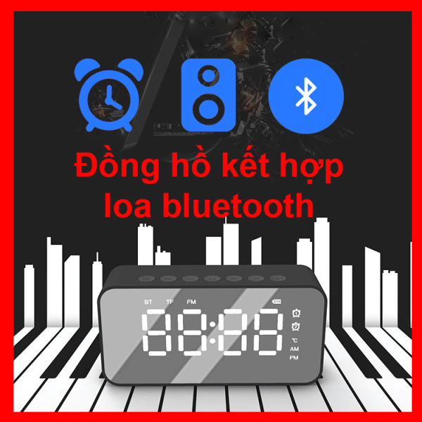 Đồng hồ để bàn kết hợp loa Bluetooth - Có báo thức - Đồng hồ loa bluetooth  - DH502 - VNY Decor bán chạy