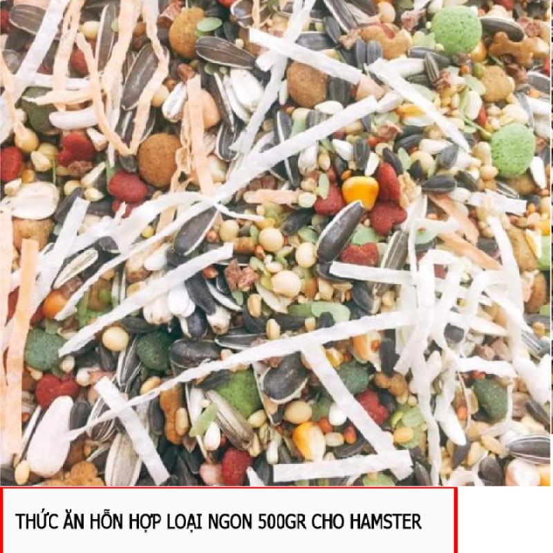 Thức ăn hỗn hợp loại ngon 500gr cho Hamster, Sóc...