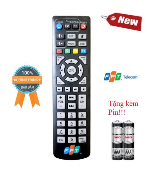 Điều khiển đầu thu truyền hình FPT - Hàng tốt 100% Tặng kèm Pin!!!