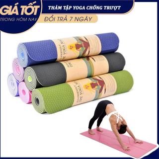 [RẺ VÔ ĐỊCH] Thảm Tập Yoga 2 Lớp Cao Cấp, Thảm Tập Gym - Thảm tập gym và yoga TPE 2 lớp đủ màu, thảm tập yoga tpe 2 lớp 6mm cao cấp, chất liệu an toàn khi tiếp xúc với da thumbnail