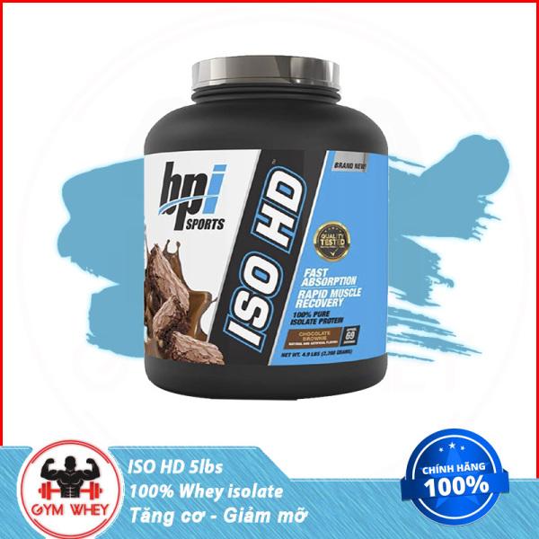 [Lấy mã giảm thêm 30%]Sữa Tăng Cơ Bắp Bpi Bpisports Iso HD 5 Lbs