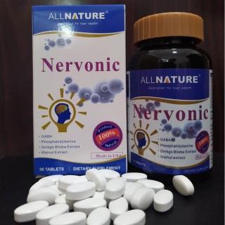 Viên bổ não Nervonic allnature Tăng cường trí nhớ, giúp hoạt huyết và cải thiện trí não (30 viên) thumbnail