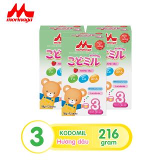 Combo 3 hộp Sữa Morinaga Số 3 Kodomil 216g hộp Cho Bé Từ 3 Tuổi - Hương dâu date 30.09.2021 thumbnail
