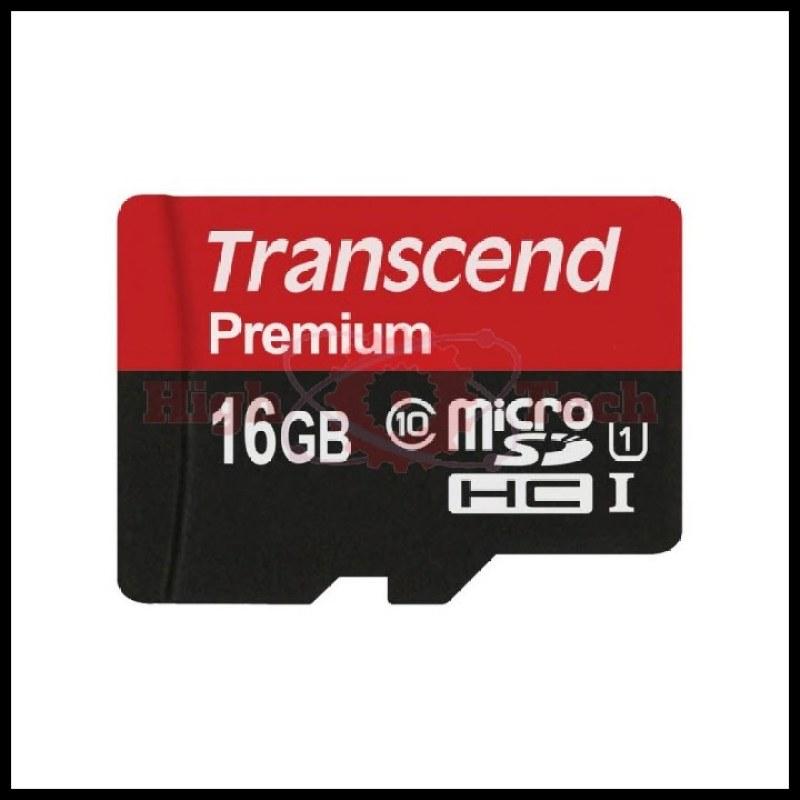 Thẻ nhớ microSDHC Transcend 16GB Premium tốc độ upto 90MB-s (Đỏ)