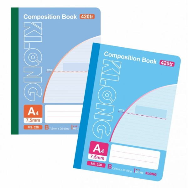 sổ may dán gáy Compostion Book A4- 420 trang KLong-MS320