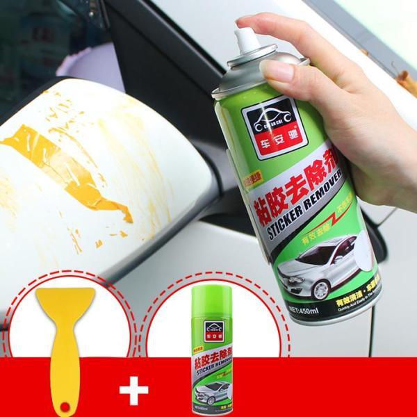 Chai xịt tẩy keo dán nhựa vỏ xe ô tô, xe máy Sticker Remover