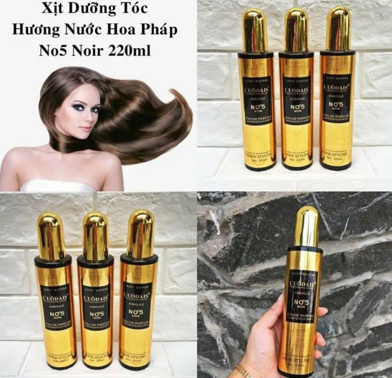 xịt dưỡng tóc hương nước hoa