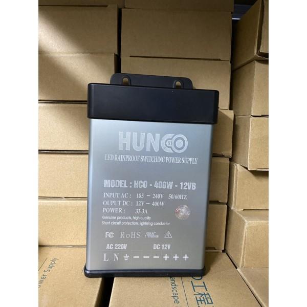 Bảng giá Nguồn led 12v 400w - 12V33A vỏ nhôm ngoài trời, Nguồn ngoài trời HUNCO