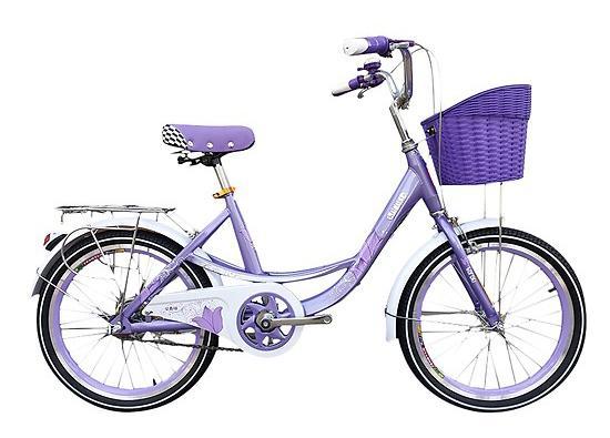 Xe đạp trẻ em nữ Borgki 20 tím