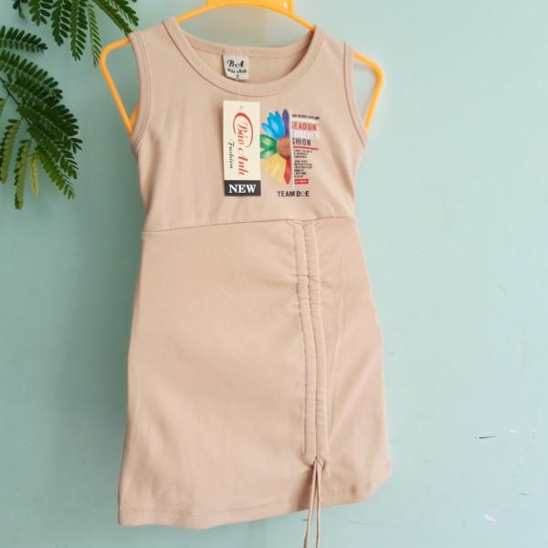 Giá bán Đầm váy body siêu dễ thương bé gái 6-26kg | đầm tết cho bé gái | kiểu dây rút độc đáo, vải thun 4