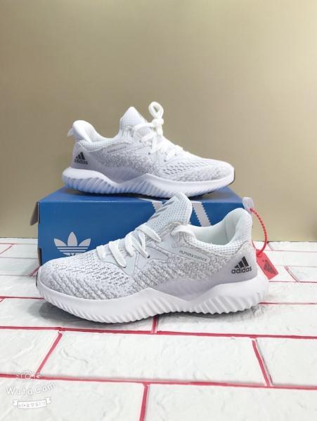 Giầy Sneakers, Giầy Chạy Bộ Alphabounce XS Màu Xám Trắng Hót Nhất Năm 2020