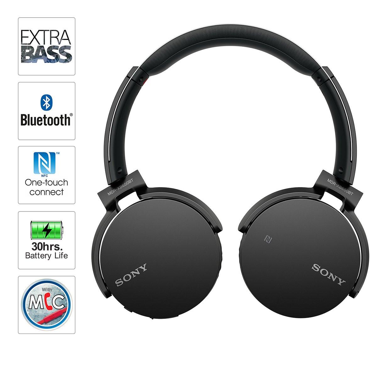 Tai nghe chụp tai, Tai nghe bluetooth có mic giá rẻ Extra Bass XB650AP Âm Thanh Hay - Nghe To Có Mic Đàm Thoại Loại Tốt