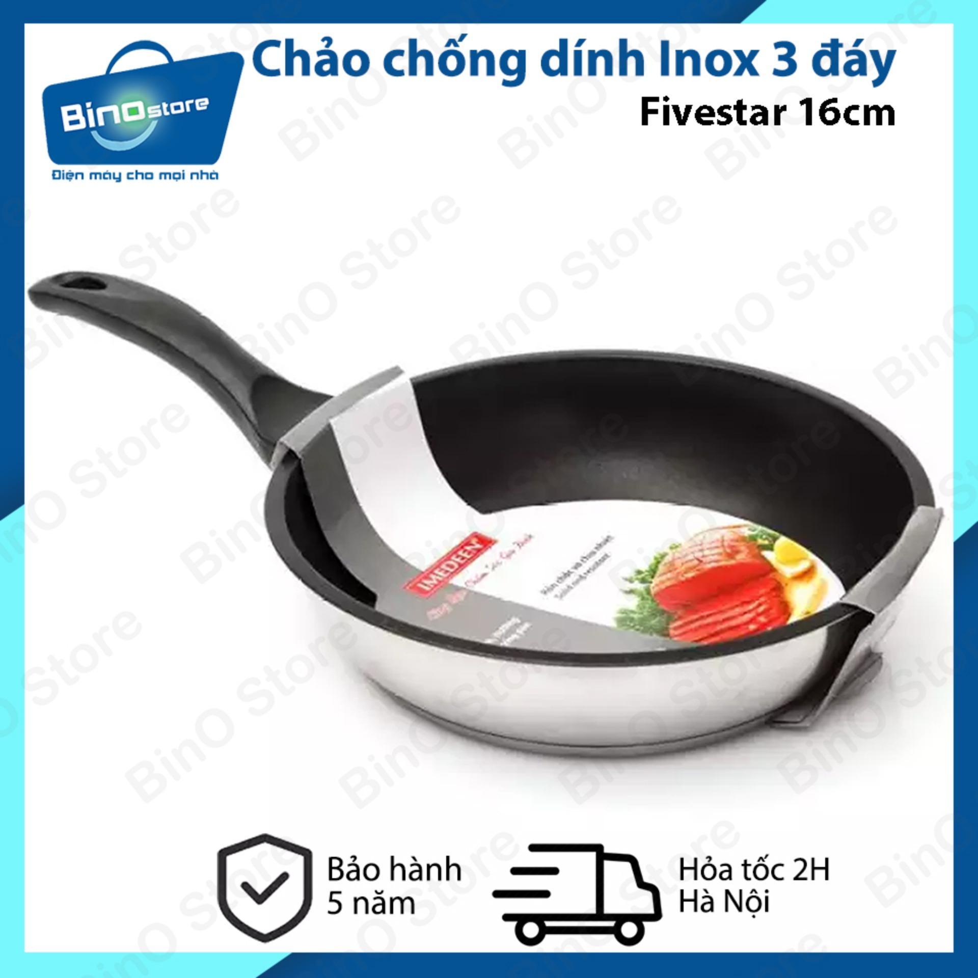 Chảo chống dính Inox 3 đáy Fivestar 16cm dùng bếp...