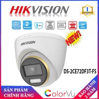 [Camera màu 24 7] Camera 4 in 1 2.0 Megapixel HIKVISION DS-2CE72DF3T-FS - Hàng Chính Hãng. - Camera Số 1 thumbnail