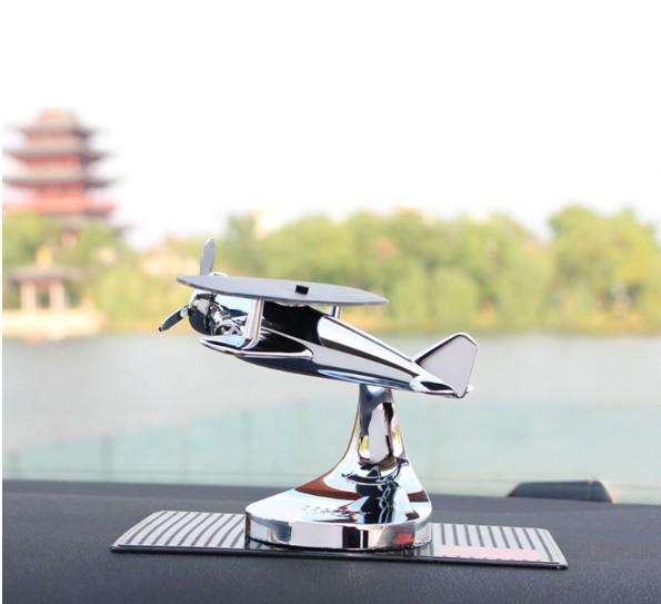 Máy bay toả hương thơm khử mùi ô tô, chất liệu hợp kim cao cấp, sử dụng năng lượng mặt trời, vật dụng trang trí sang trọng cho xế