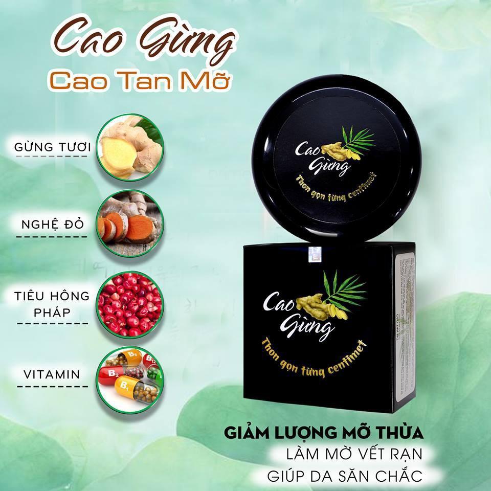 Cao Gừng Tan Mỡ Thiên Nhiên Việt - Có Tem Chống Hàng Giả chính hãng