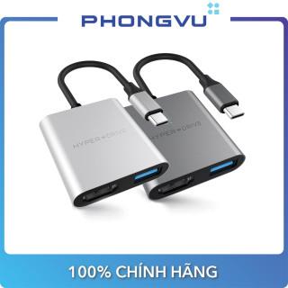 Bộ chia Hub USB-C 3 in 1 HDMI 4K HyperDrive HD259A (Bạc Xám) - Bảo hành 12 tháng thumbnail