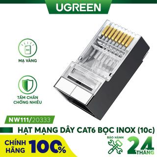 Đầu (hạt) bấm mạng RJ45 cho dây CAT6 bọc inox chống nhiễu UGREEN NW111 - Hãng phân phối chính thức thumbnail