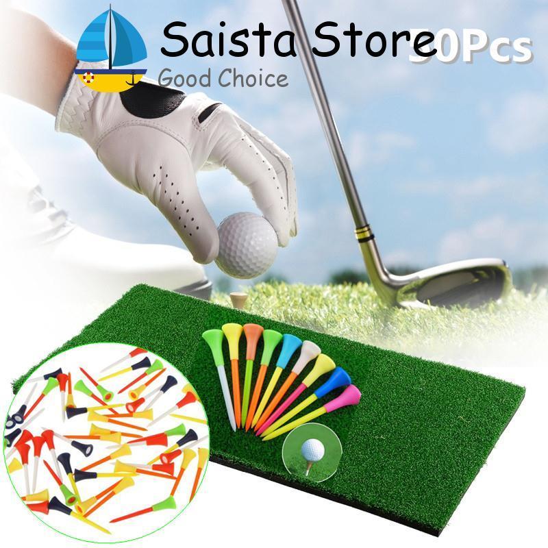 Mới 50 cái 85 mét Nhựa Golf Tee Golf Cao Su Đệm Đầu Thiết Bị Phụ Kiện-quốc tế-quốc tế - 7