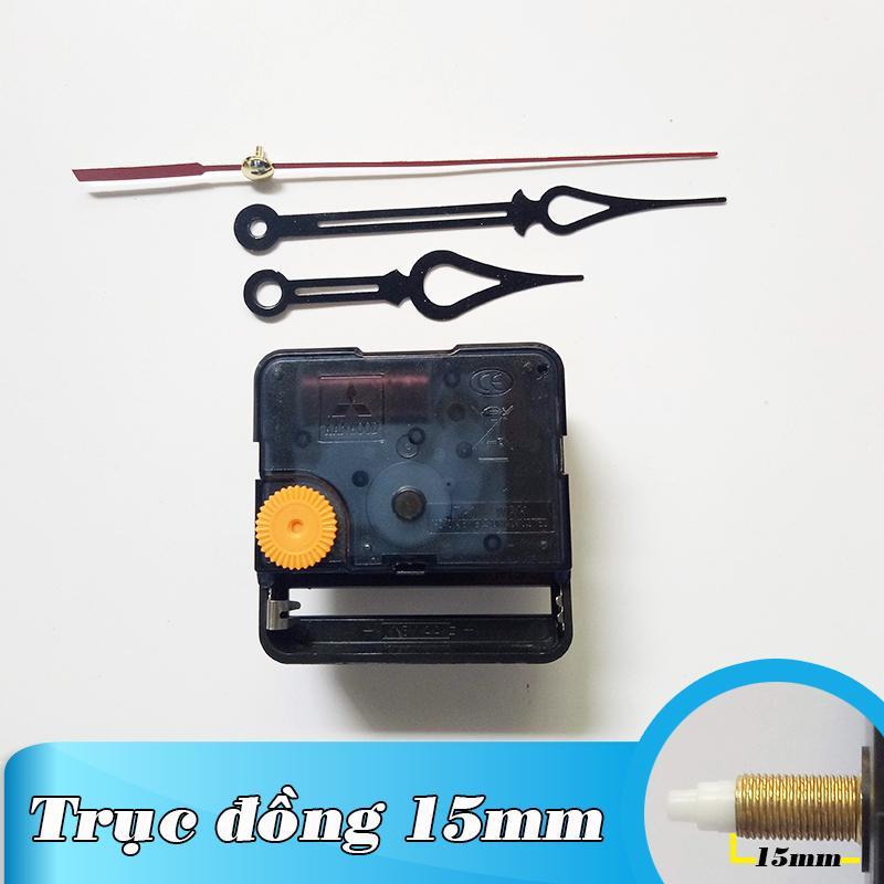Nơi bán Kim trôi - Bộ kim đen 10cm và Máy đồng hồ treo tường Đài Loan loại tốt - Trục 15mm