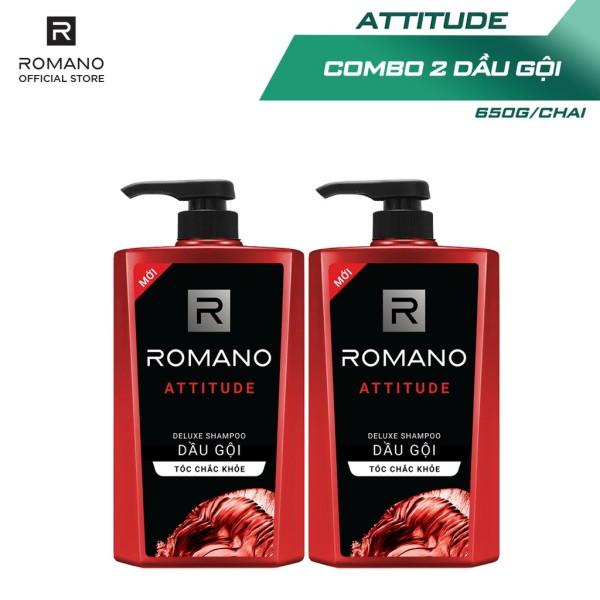 Combo 2 Dầu gội Romano hương nước hoa 650g