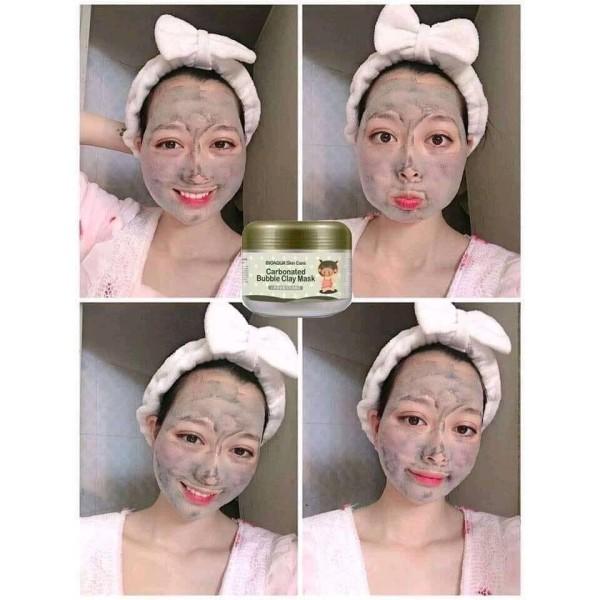 [HCM]Mặt nạ sủi bọt thải độc bì heo Carbonated Buble Clay mask Bioaqua