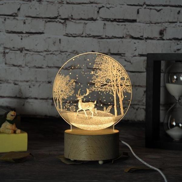 Đèn trang trí LED 3D