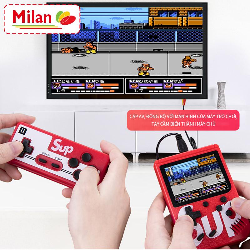[Máy chơi game đôi + cáp dây AV 3m] Máy chơi game cầm tay hoài cổ cổ điển, 400 trò chơi mini cổ điển, SUP400 trong một