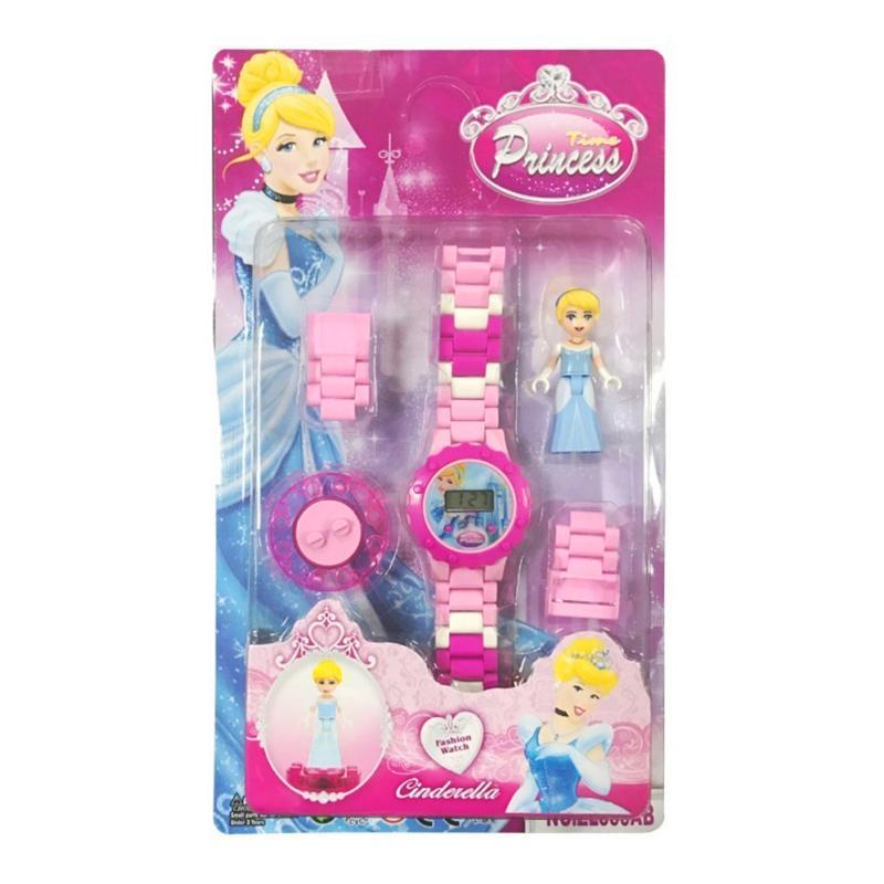 Giá bán Bộ đồng hồ đeo tay lắp ráp hình nhân vật hoạt hình cho bé gái – DH008