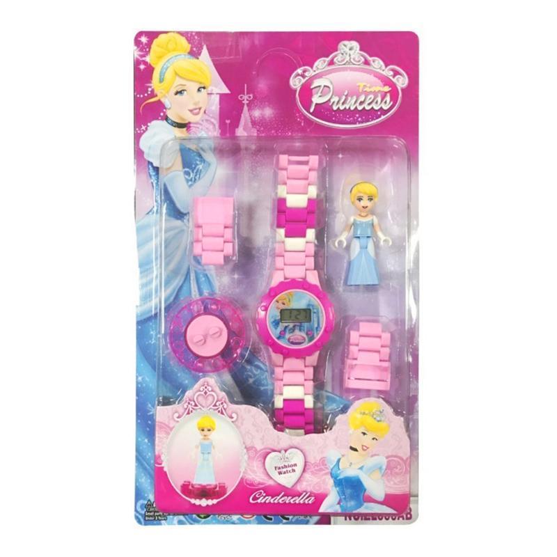 Bộ đồng hồ đeo tay lắp ráp hình nhân vật hoạt hình cho bé gái – DH008 bán chạy