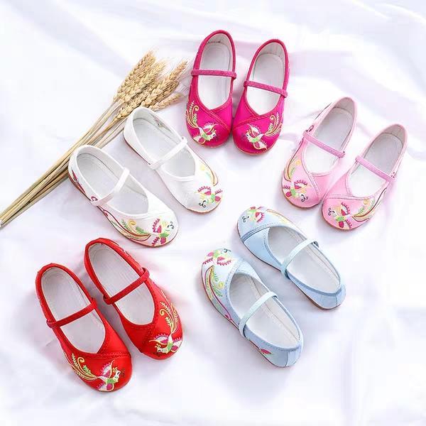 Giá bán Thời trang bé gái giày thêu  hài thêu  mùa xuân bé gái dễ thương