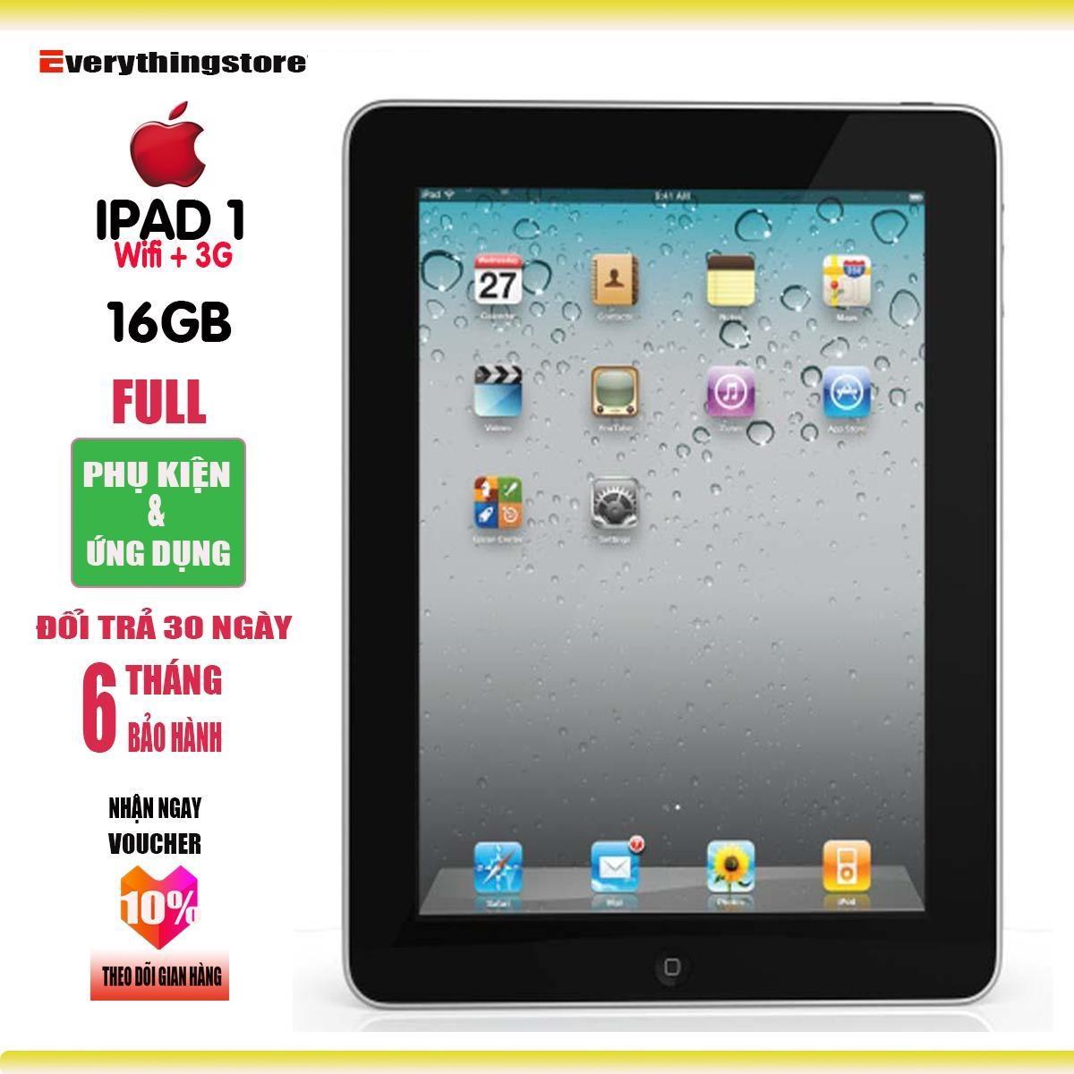 Máy tính bảng iPAD1 - 16GB - Bản xài sim 3G - Bảo hành 6T - Full ứng dụng - Full phụ kiện - Everything Store Nhật Bản