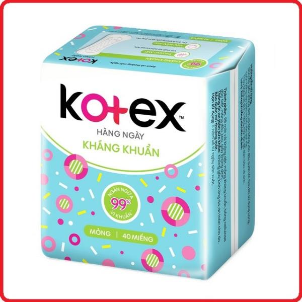 Băng Vệ Sinh Kotex hằng ngày kháng khuẩn gói 40 Miếng - sản phẩm đa dạng chất lượng đảm bảo an toàn về sức khỏe người dùng cam kết hàng giống hình cao cấp