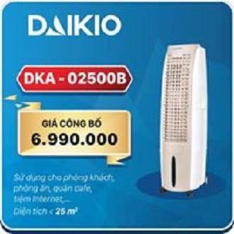 Bảng giá MÁY LÀM MÁT KHÔNG KHÍ DAIKIO DKA-02500B