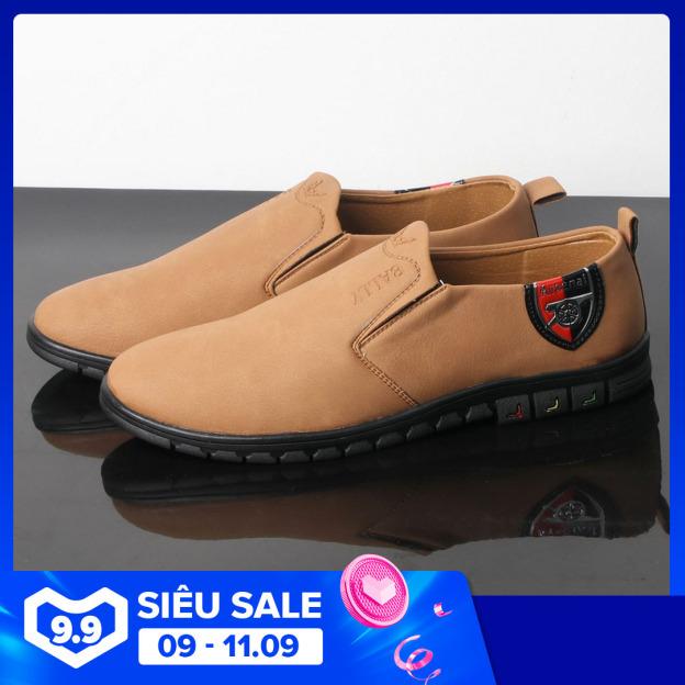 Giày lười nam màu da bò thiết kế thời trang đế cao su siêu bền G429 MuiDoi  giày nam  giày mọi giá rẻ