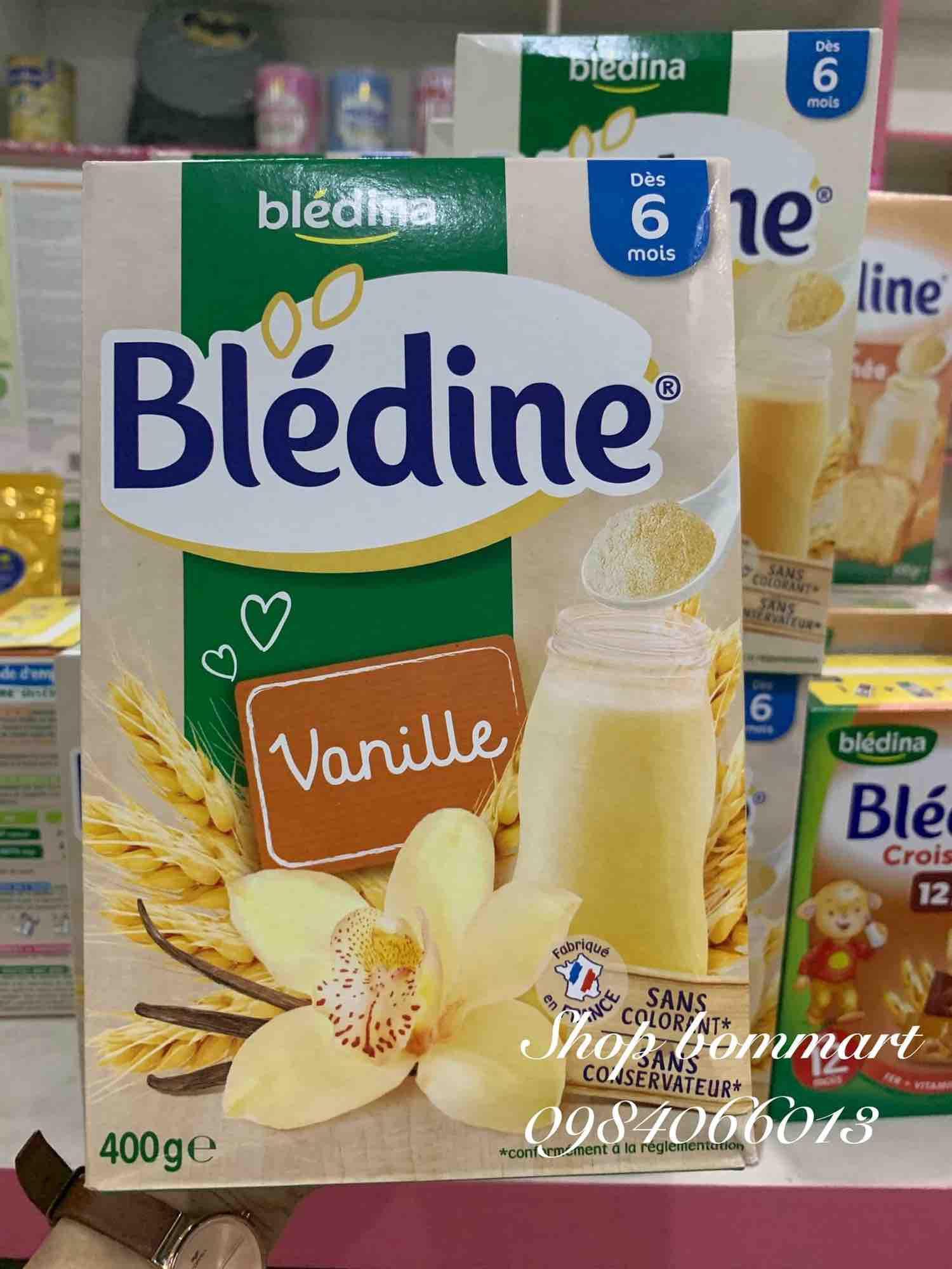 Bột lắc sữa tăng cân bledina vị vani 400g pháp cho bé từ 6m