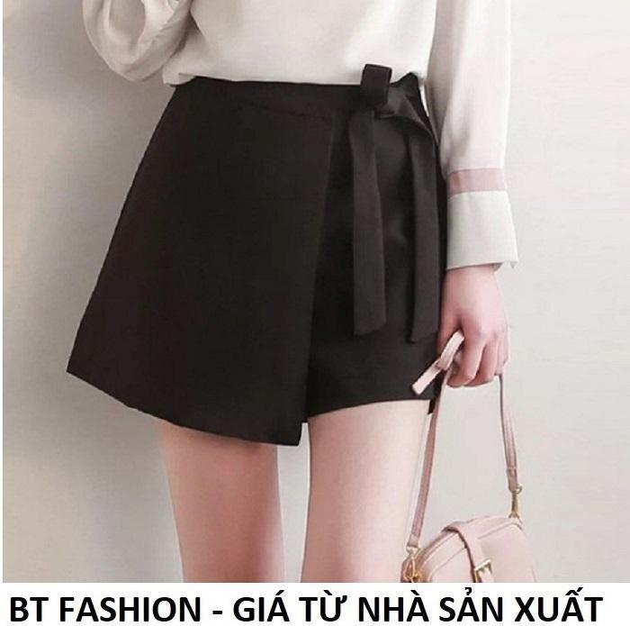 Quần Sọt Đùi Nữ Giả Váy Thời Trang Hàn Quốc Mới - BT Fashion (VA06-Nơ Bên)