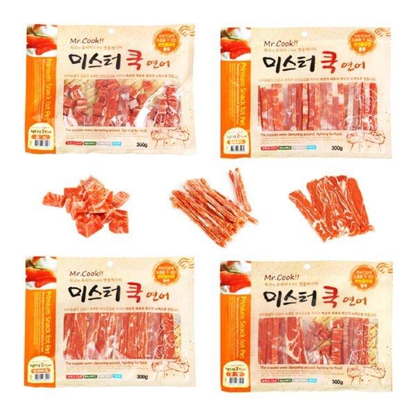 Snack thưởng cho chó vị thịt cá hồi sấy Mr.Cook Hàn Quốc 300gr