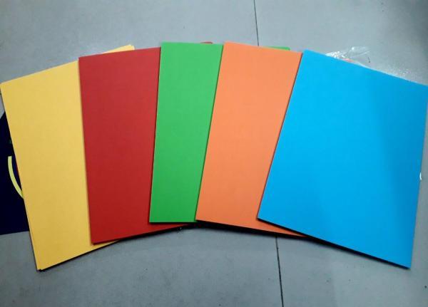 Mua giấy bìa cứng a4 5 màu- giấy thủ công