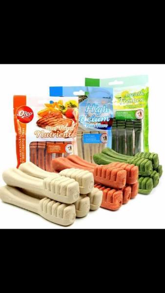 Đồ Ăn Vặt Xương Gặm Sạch Răng Hình Bàn Chải Calcium Org 90g