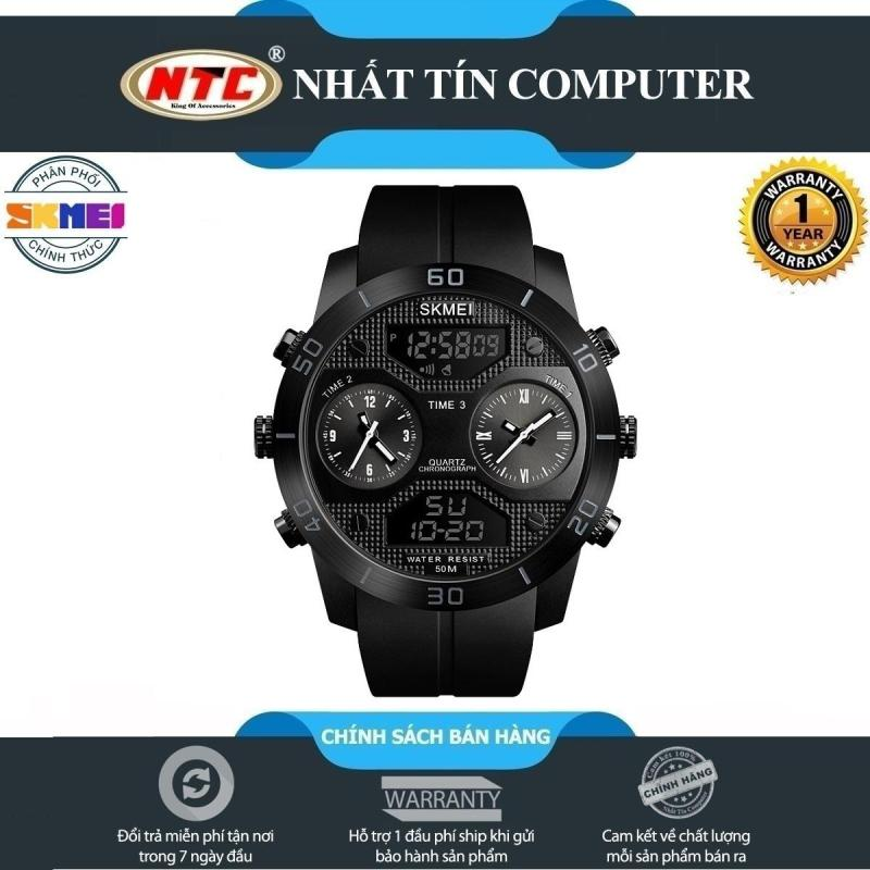 Đồng hồ thể thao nam SKMEI 1355 (dây khớp nhựa chạy kim và điện tử chống nước 5ATM) - Nhất Tín Computer