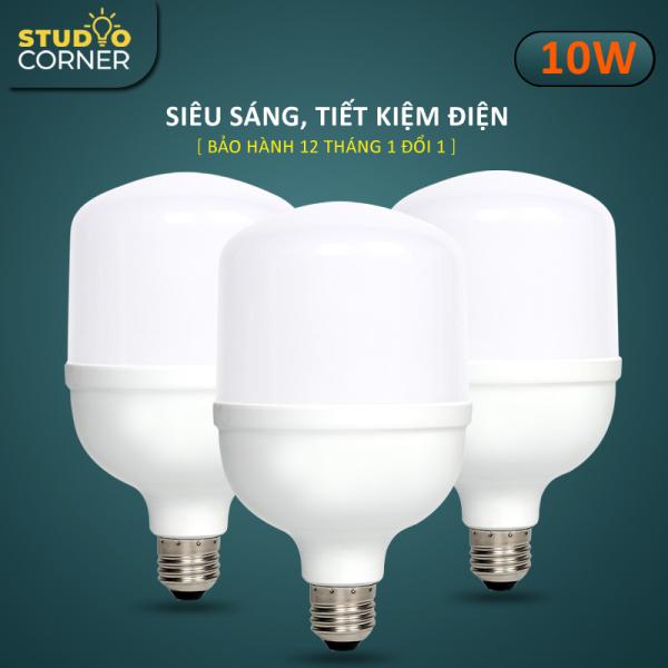 Combo 3 Bóng đèn Led hình trụ búp tiết kiệm điện, đuôi vít xoắn ốc E27 công suất 5W-10W-15W-20W-30W-40W-50W, ánh sáng trắng, tuổi thọ cao, không nhấp nháy, không tia UV, nhà trọ, gia đình, văn phòng-DBT