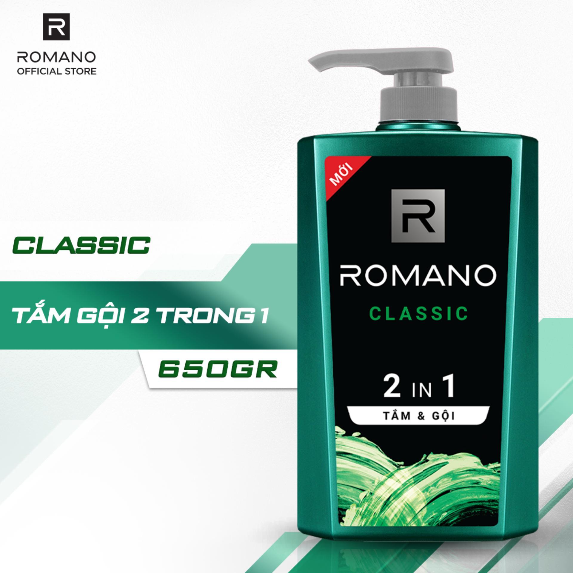 Tắm Gội 2 Trong 1 Romano Classic 650g Khuyến Mại Hot
