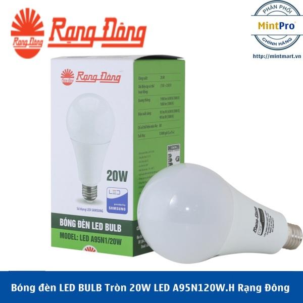 Bóng đèn LED BULB Tròn 20W LED A95N1/20W.H Rạng Đông - Hàng Chính Hãng