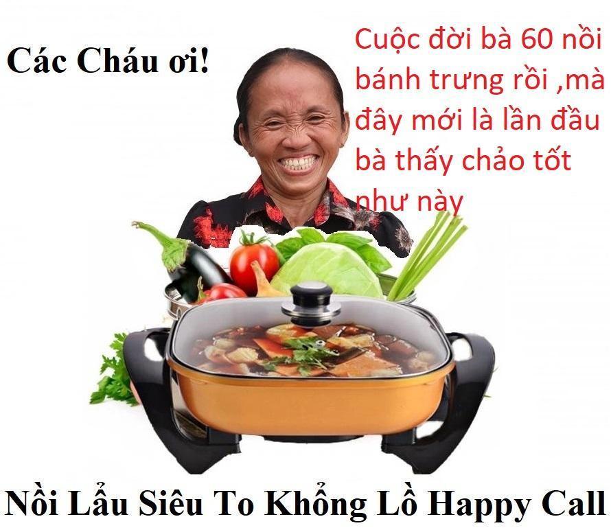 Chảo Lẩu Điện Đa Năng Happy Call - Chảo Điện - Nồi Lẩu Điện BH 12 tháng 1 đổi 1 - NEW