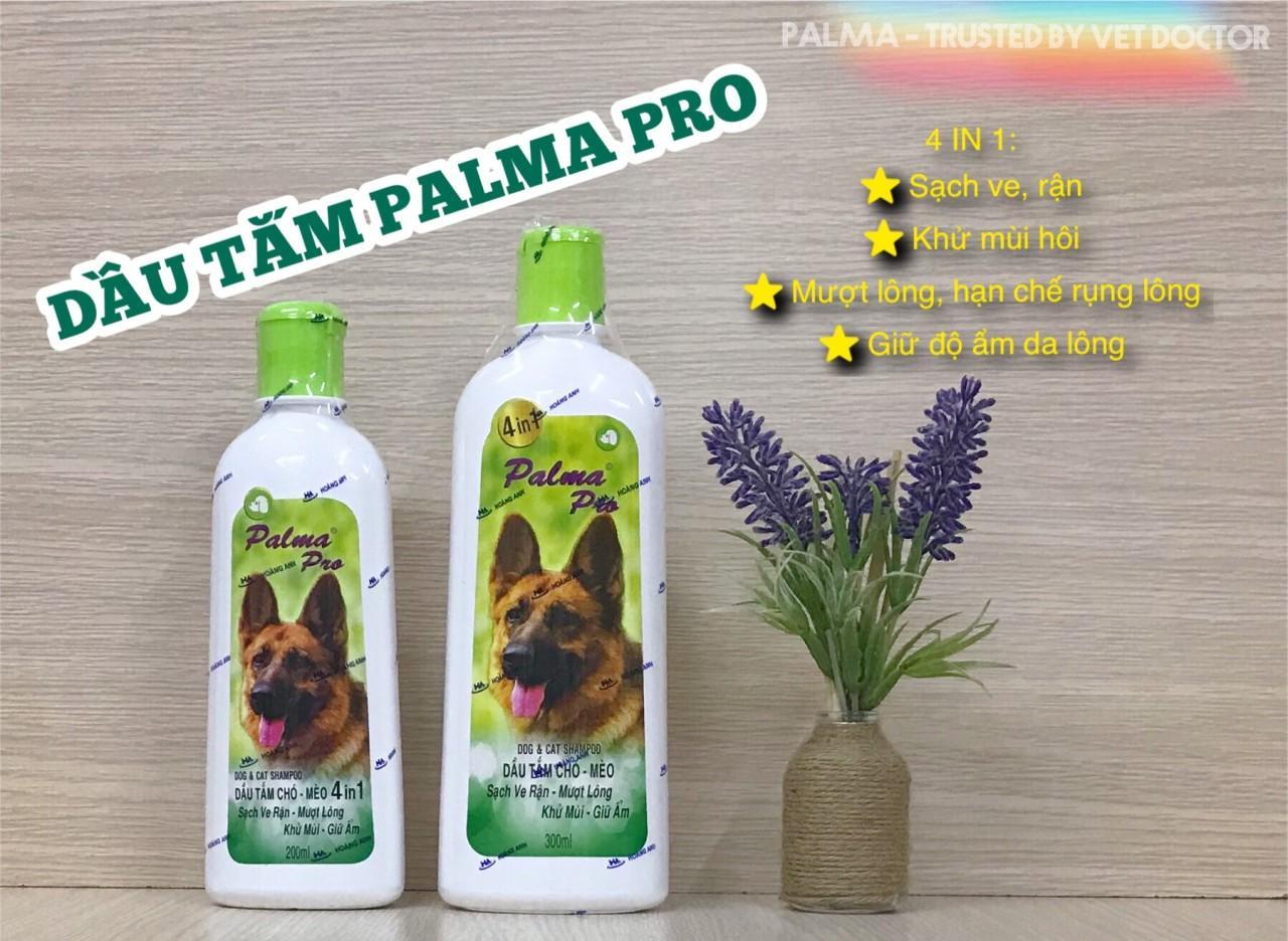 Dầu Tắm Sữa tắm Fay Palma Pro dùng cho chó mèo 4 trong 1 - Palma Pro 500ml