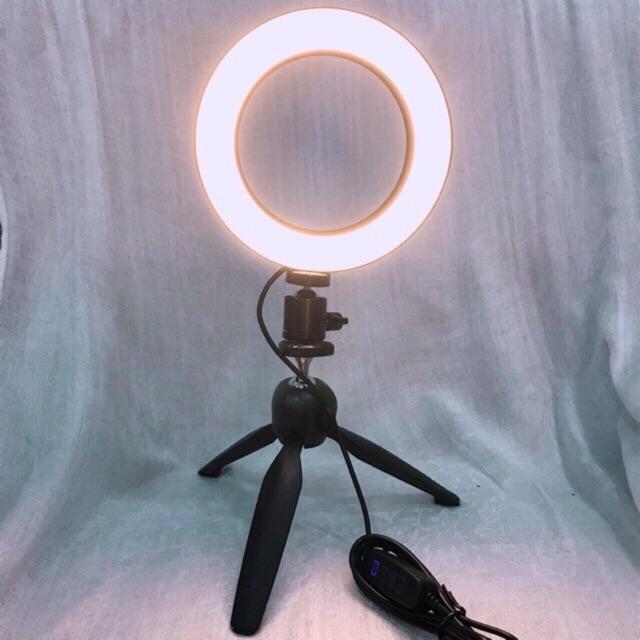 Combo Đèn Livestream Ø 16CM + Chân Mini YT-228(XH-228)✓Trợ Sáng✓Hỗ Trợ Ánh Sáng Chụp Ảnh✓Make Up