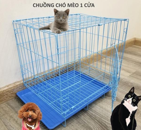 HN- Lồng cho thú cưng (có 3 loại dày và mỏng SD45  SD35) dùng cho mèo và chó nhỏ màu ngẫu nhiên dạng gấp gọn sơn tĩnh điện dùng để làm chuồng nuôi chó mèo / chuồng mèo / chuồng chó / chuồng thú cưng ( SD45 / SD50 )