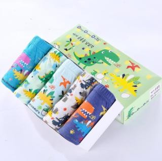 Set 5 quần lót bé trai cotton Hàn Quốc mẫu mã đẹp, chất lượng vải tốt, an toàn sức khỏe cho bé, 100% cotton thoáng mát phù hợp cho trẻ từ 2-15 tuổi